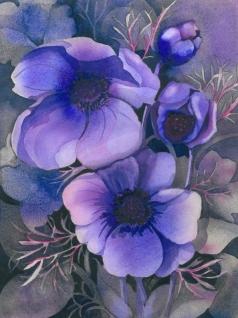Purple Anemones, Elizabeth Cox