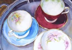 Tea Cups 2, Elizabeth Cox
