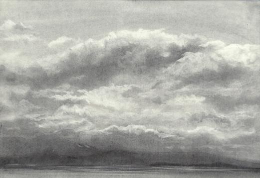 Charcoal Sketch, Elizabeth Cox