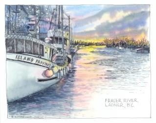 Fraser River, Ladner, BC