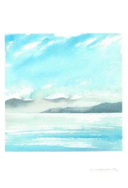 Seascape 1, 15x22 Watercolour on Paper