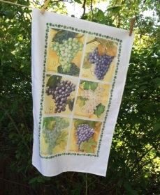 Grapes tea towel hanging