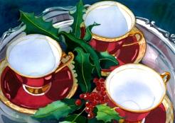 Christmas Teacups, Elizabeth Cox