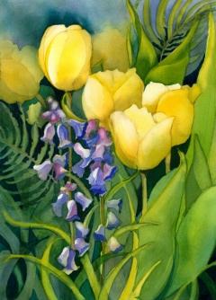 Yellow Tulips, Elizabeth Cox